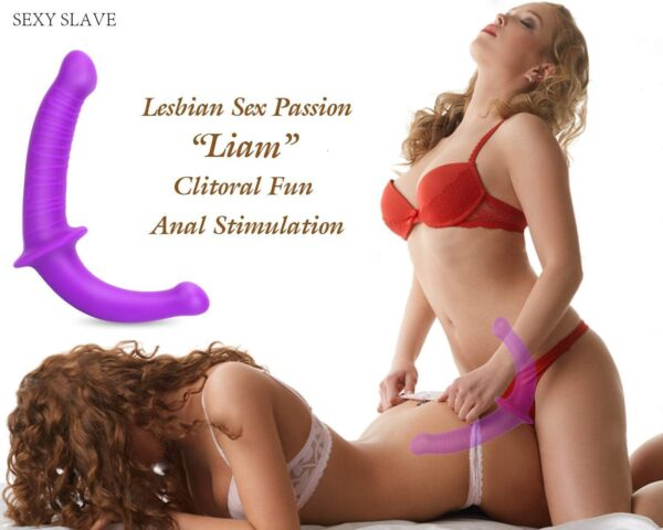 Strapless Strap-on Dildo - Realistic Silicone Dildo for Anal Vagina Stimulation, SEXY SLAVE Liam Double Dong Adult Sex Toy for Male Female Lesbian,13.3in Dildo for Couple Pegging Sex Fun