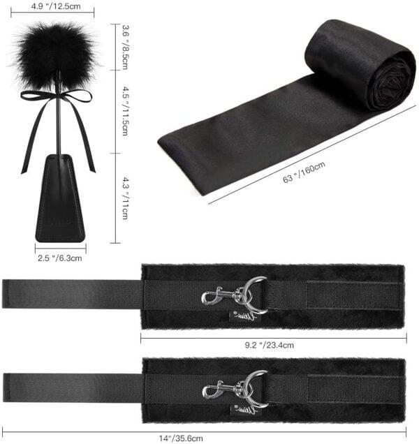 Sex Bondage BDSM Kit UTIMI Restraints Set Sex Toys with Hand Cuffs Ankle Cuff Bondage Collection & Blindfold & Tickler Included